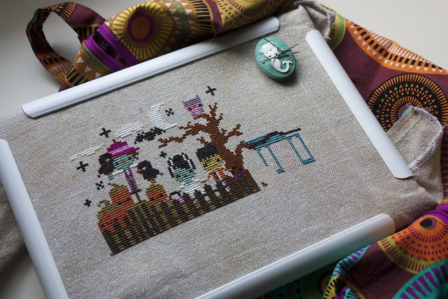 Mysterious Halloween Town cross stitch