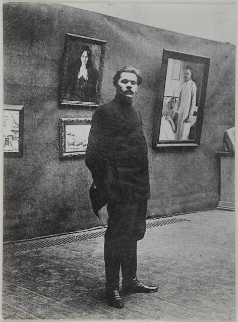 Maxim Gorky visitando el Ateneum