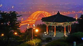 Afbeelding van Haengjusanseong. korea gyeonggido goyang 행주산성 summerinkorea haengjusanseongfortress 행주산성야간개장