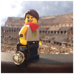 #legopau loves the light here. #italy #rome #lego