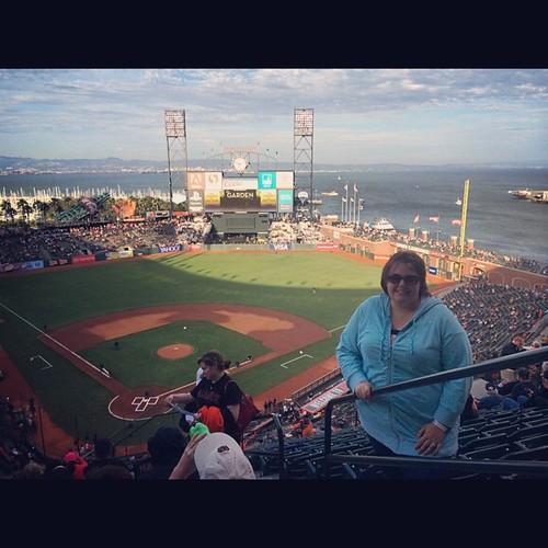 Same park, different day! #attpark #sfgiants #sanfrancisco #MLB #baseball #kategoestocalifornia
