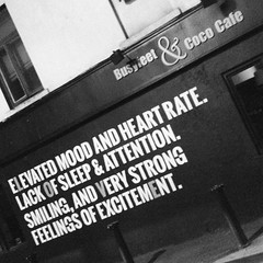 """""""elevated mood and heart rate. lack of sleep and attention. smiling, and very strong feelings of excitement."""" by busyfeet & coco cafe 