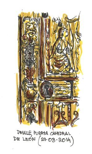 Catedral de León. Detalle de puerta