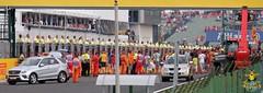 F1 Grand Prix: Our view of Ricciardo mounting the podium!