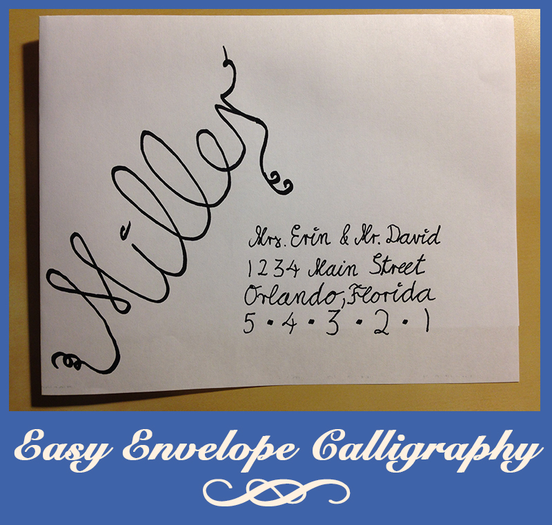 Easy fake calligraphy for our wedding invitations