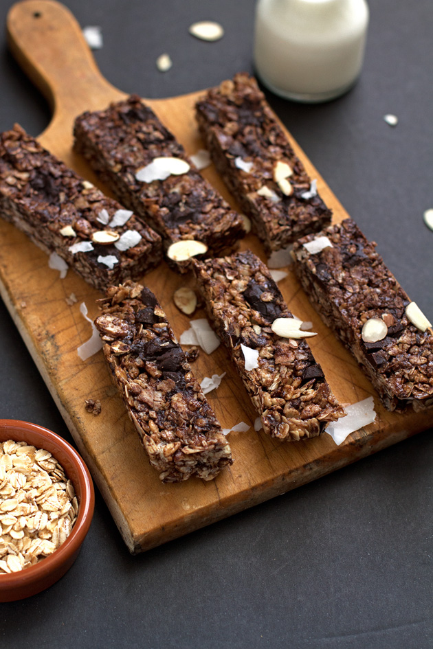 Almond Joy Coconut Chocolate Granola Bars