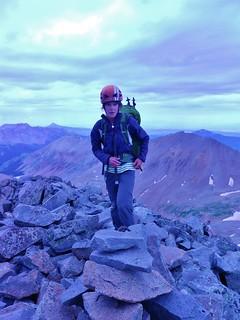 Meredith on Gladstone Peak