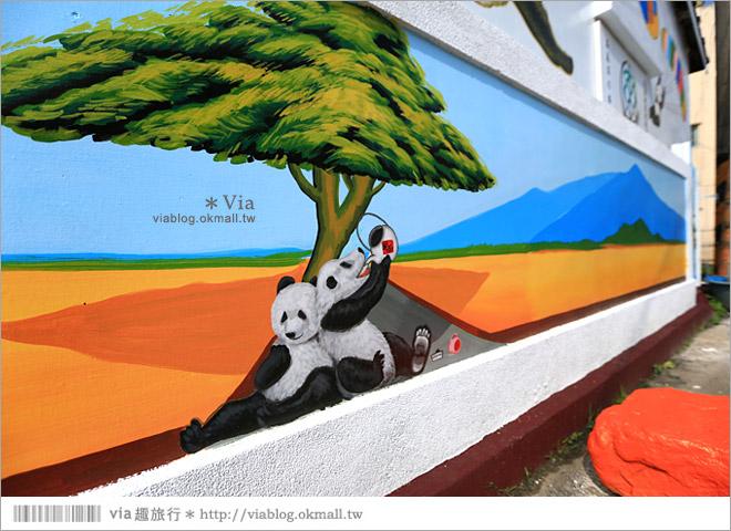 【雲林熊貓村】斗南鎮石龜熊貓村~最新!超萌又生動的立體3D畫彩繪村再一彈!39