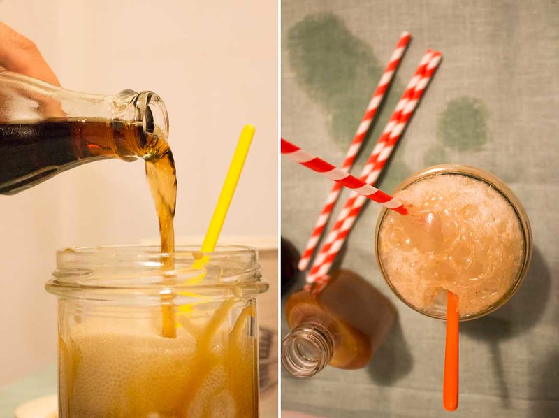 bourbon caramel float