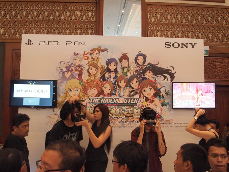 IdolM@aster booth PS3 demo