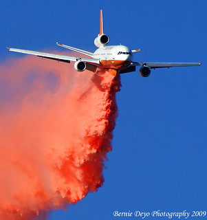 Tanker 910 at the Station Fire