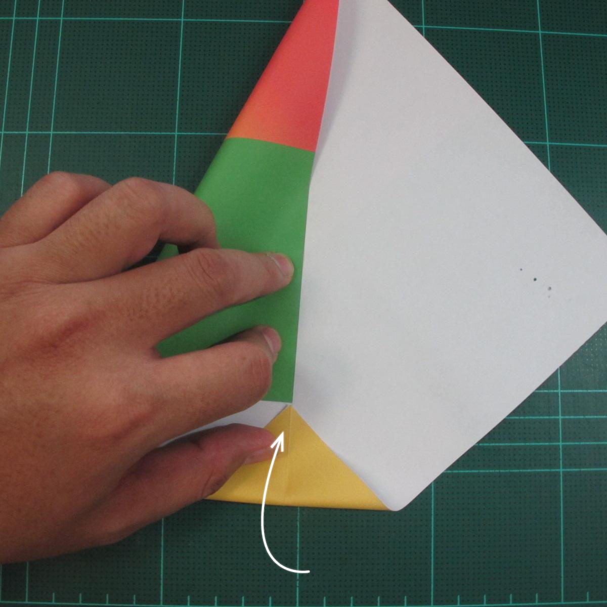 วิธีพับกระดาษเป็นรูปนกแก้ว (Origami Parrot) 002