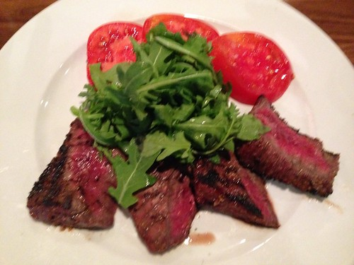 IMG_4142 Grilled skirt steak, arugula and tomatoes from Paul Martins