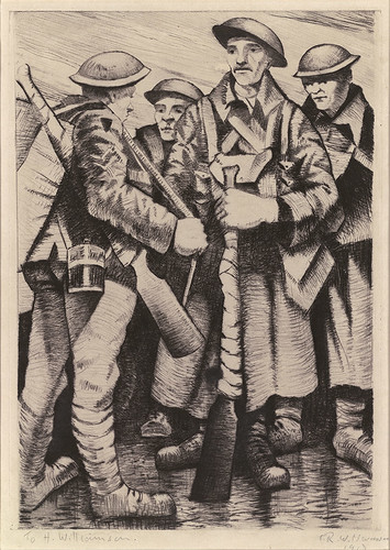 CRW-Nevinson,-A-group-of-soldiers,-1917,-drypoint,-35.5-x-25.5--cm.-Courtesy-Osborne-Samuel
