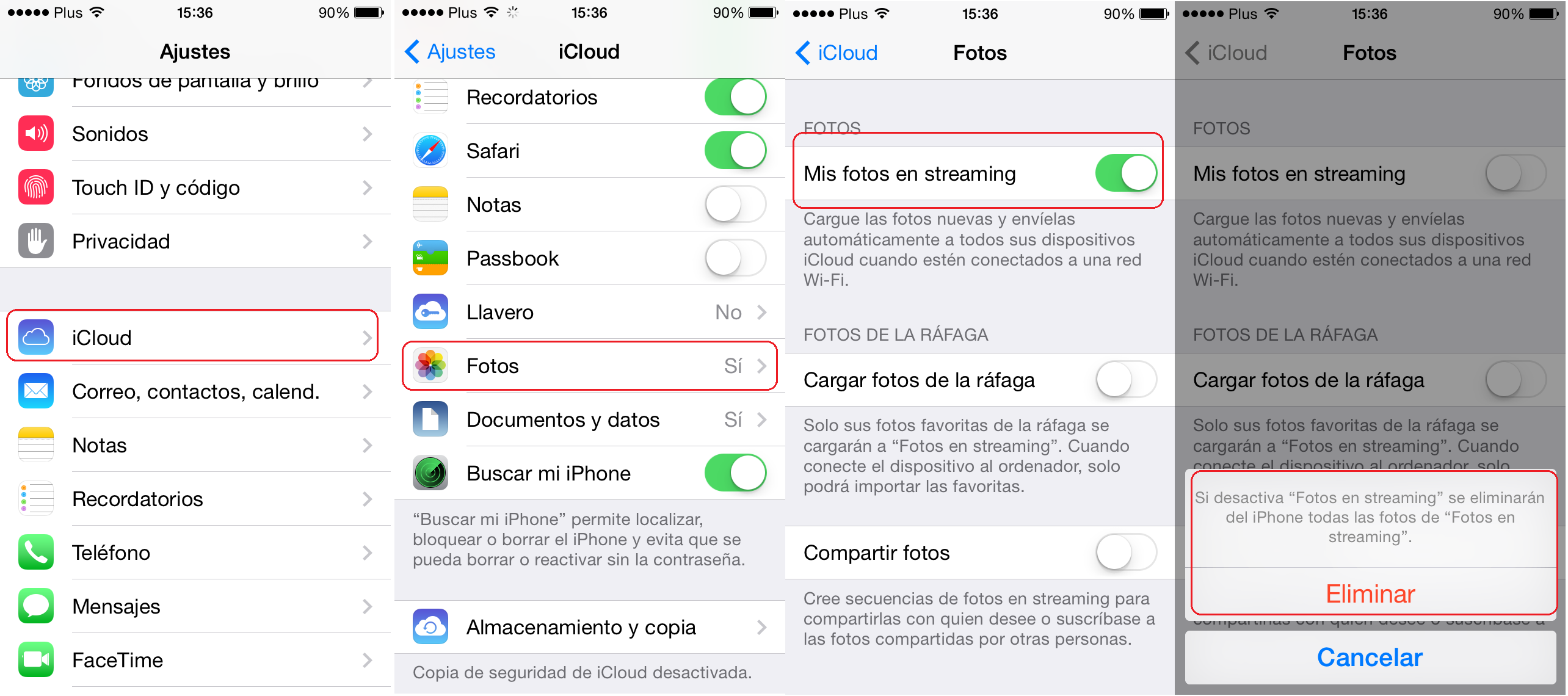 seguridad photos icloud iphone