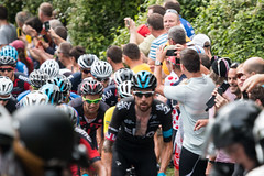 Tour of Britain Bike Race 2014 on Kop Hill Buckinghamshire