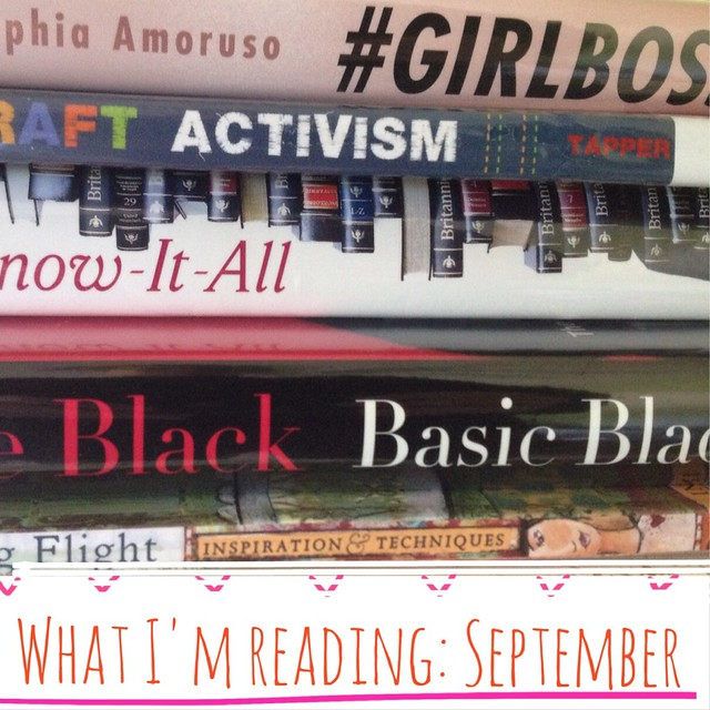 What I'm reading in September.