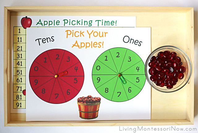 Hundred Chart Game - Apple Picking Time