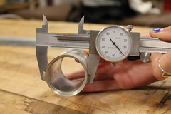Calipers measuring outside diameter