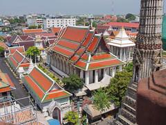 Bangkok along the Chao Phraya and Wat Arun