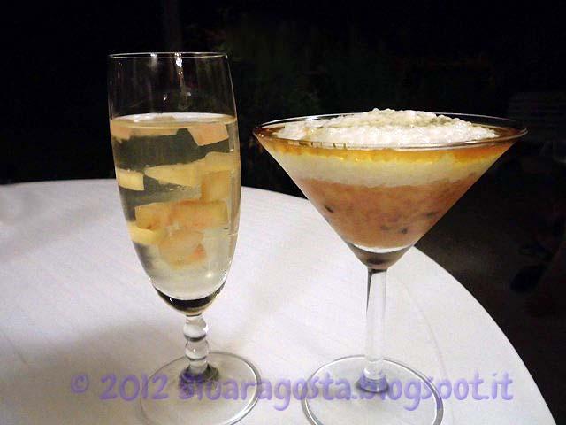 09-aspic prosecco e pesche con coppa di passion fruit e tapioca