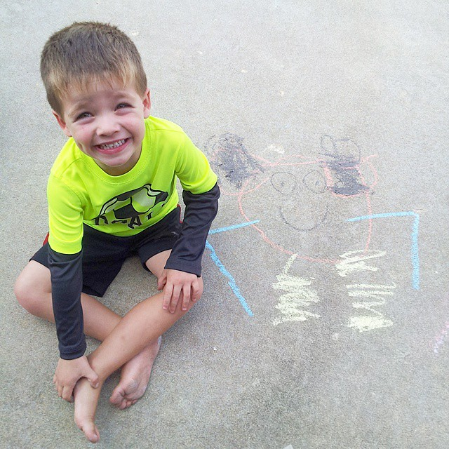 """look Momma! I drew Mickey Mouse!"""