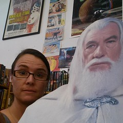 Just hanging out with Gandalf the White.