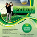 Golf Flyer Template with Registration Form