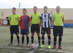 TRÍO ARBITRAL Y CAPITANES DEL CARTAGENA FC JUVENIL 0 TORRE LEVANTE 1