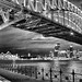 Rainy Sydney Harbour Bridge BW