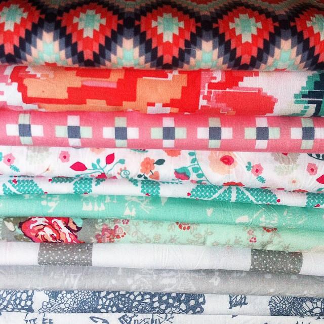 #mistmoderknittie palette of #recollectionfabrics #artgalleryfabrics