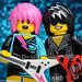 Cute Couple - Rocker Girl and Rock Star by DigiNik13