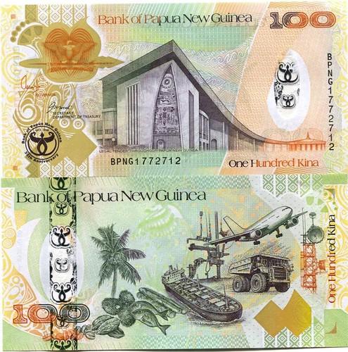 100 Kina Papua Nová Guinea 2008, pamätná, Pick 37