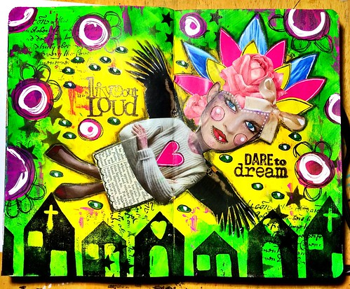 New collage pages in my moleskine journal !!