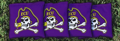 EAST CAROLINA UNIVERSITY ECU PIRATES PURPLE CORNHOLE BAGS