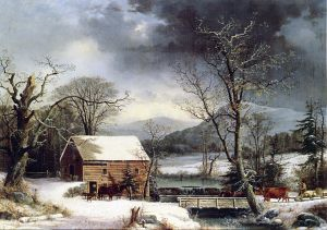 t-the-Mill-Winter-George-Henry-Durrie-1858-300x211