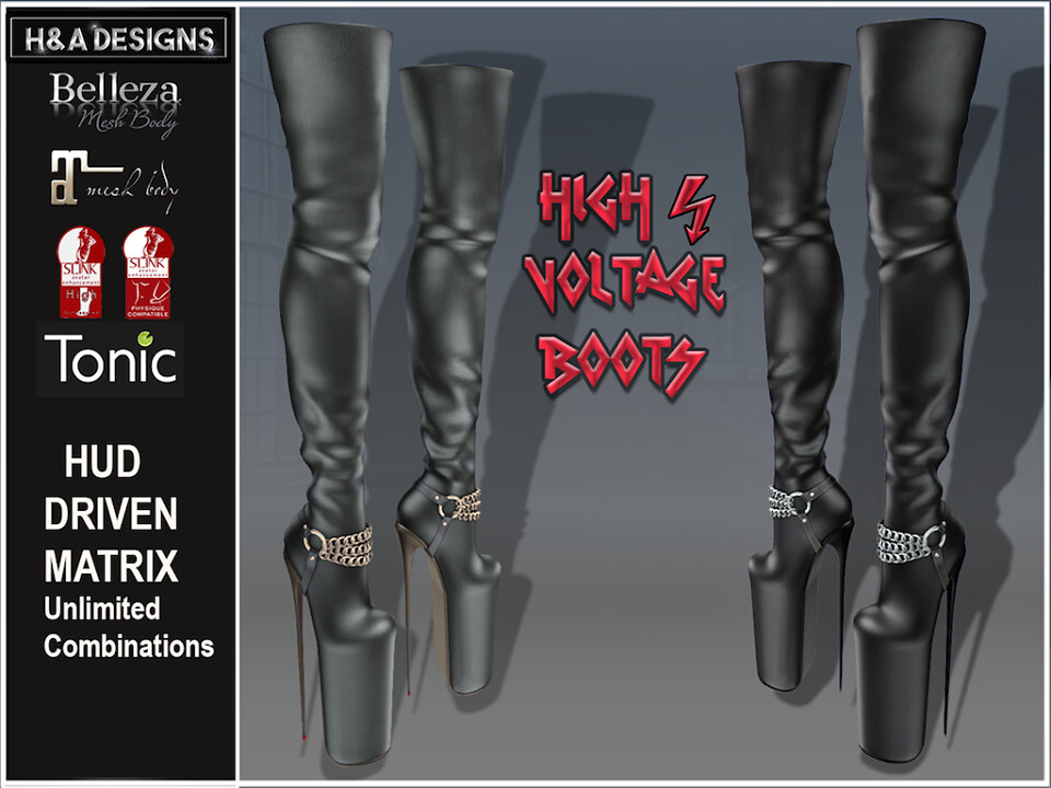 H&A Designs High Voltage Boots - SecondLifeHub.com