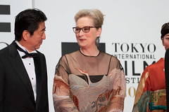 Meryl Streep & Prime Minister Abe Shinzo at Opening Ceremony of the Tokyo International Film Festival 2016