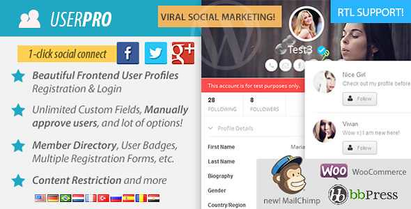 UserPro WordPress Plugin free download