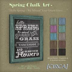 Spring Chalk Art - Hello Spring 2
