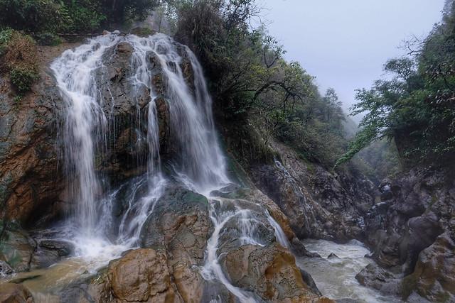 Cat Cat Waterfall Sa Pa Vietnam