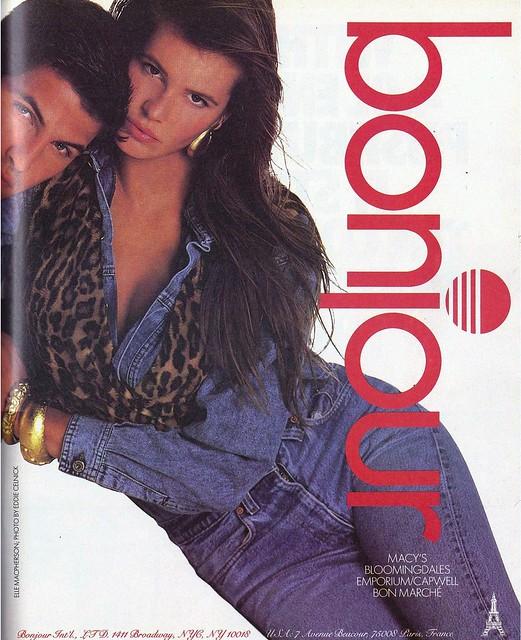 Bonjour-Elle MacPherson Ad 1989
