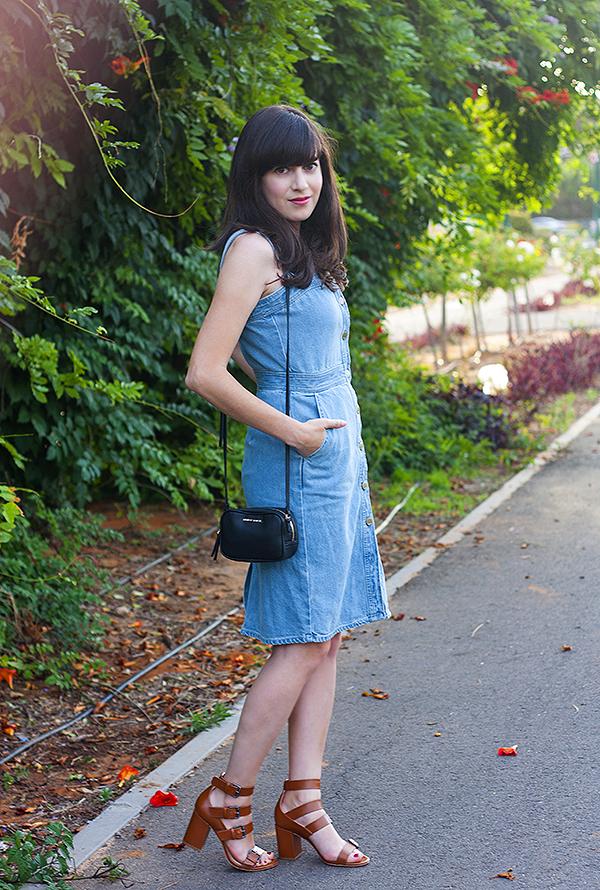 stella mccartney button denim dress, gap denim dress, שמלת ג'ינס, שמלת ג'ינס סטלה מקרטני, בלוג אופנה