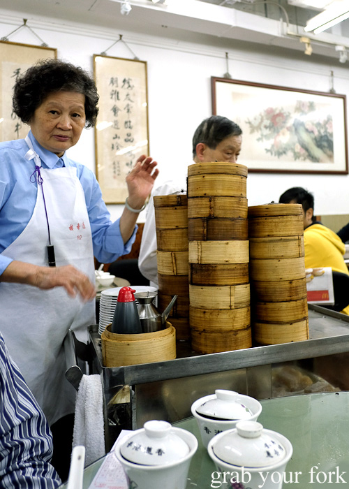 Yum cha trolley at Lin Heung Tea House in Central, Hong Kong