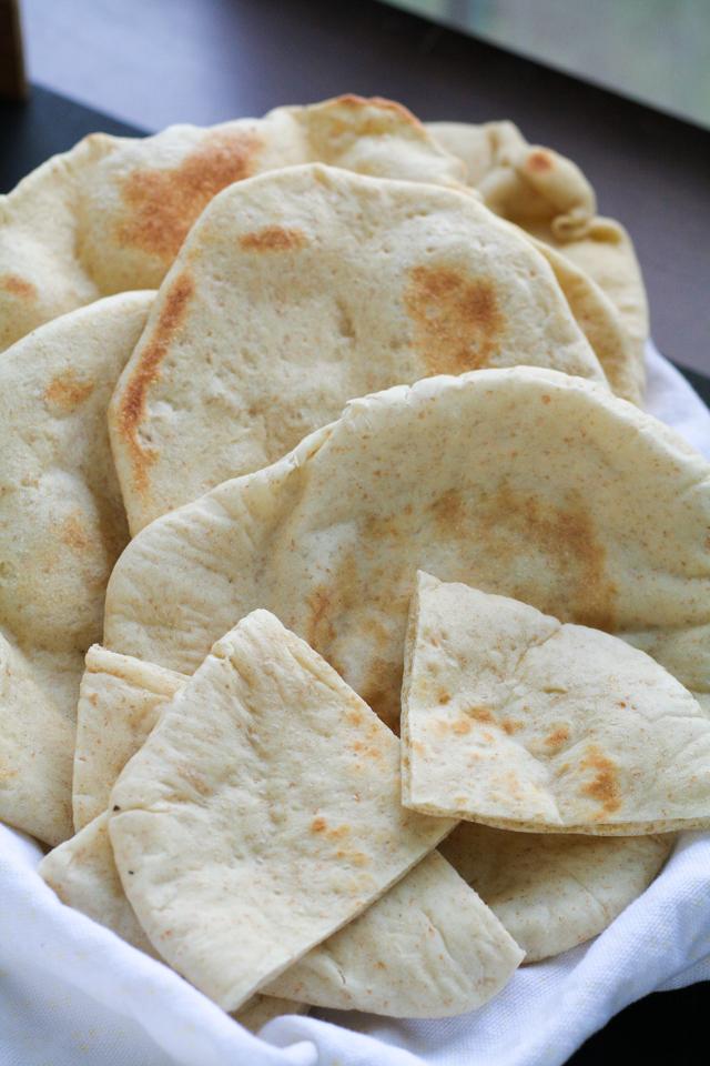 homemade pita bread recipe [ inthiskitchen.com ]
