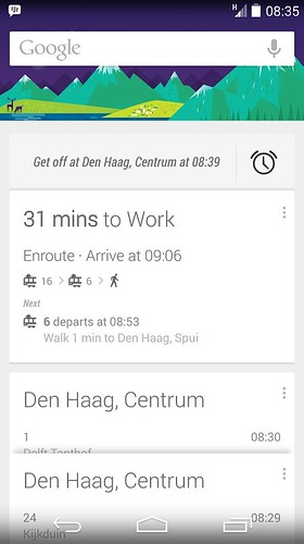 Google Nowв общественном транспорте