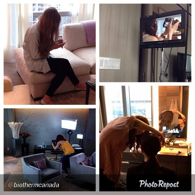 biotherm, fashion magazine, feature, behind the scenes, four seasons Toronto, Toronto, video shoot
