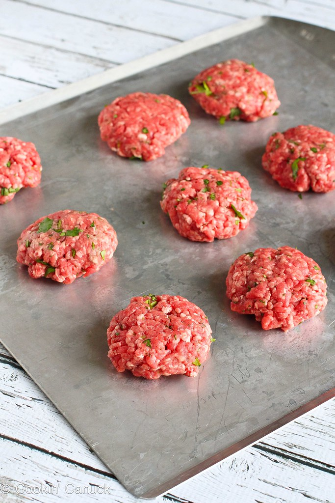 Lean Grilled Hamburger Sliders Recipe with Hot Sauce Slaw | cookincanuck.com