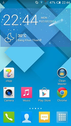 Home screen ของ Alcatel OneTouch Idol Alpha