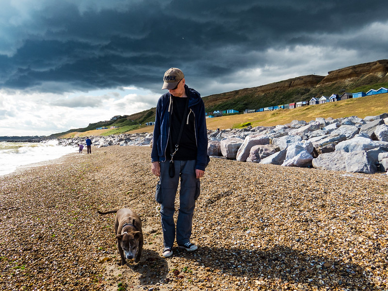 Chris and Jez on the beach